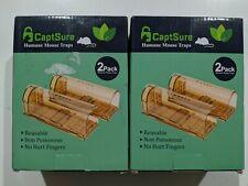CaptSure Humane Smart Mouse Trap Live Catch & Release Rodent Cage Box 4 Pack