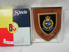 VINTAGE OBSOLETE ROYAL HONG KONG POLICE CLOISONNE WALL PLAQUE NEW IN BOX