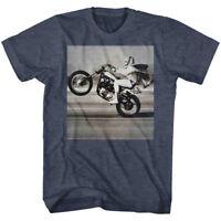 OFFICIAL Evel Knievel Men's T-Shirt Wheelie Photo Live Stunt Rider Biker