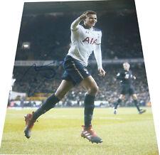 Dele Alli Tottenham Spurs SIGNED AUTOGRAPH 16x12 Portrait Photo AFTAL UACC