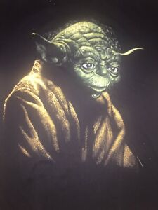 Vintage 1995 Star Wars Yoda Shirt Mens Size XL Made In USA Changes