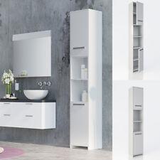 Salle de bains Meuble de salle de bains Étagère de salle de bains 2 portes blanc