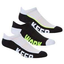REDTAG Mens 3 Pack Cushioned Sport Trainer Liner Socks 6-11
