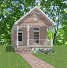 Affordable Custom House Small Narrow Lot Home Blueprints Plans 3 bed 832sf PDF