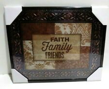 Faith - Family - Friends  Inspirational Wall Picture, Wall Plaque (NEW)