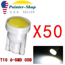 50x 6000K Pure White T10 COB High Power LED Interior License Dome Map Light Bulb