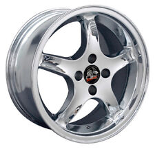 """17"""" Ford Mustang Cobra R Style Rims Wheels 4 Lug Replacement Chrome 79-93' 17x8"""
