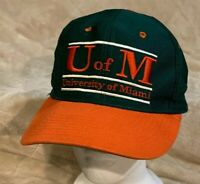 VTG University of Miami Hurricanes Adult OSFA The Game Snapback Hat Cap NCAA