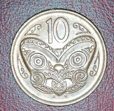 2006 New Zealand - Maori Mask - 10 Cent Coin Bronze Colour