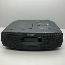 Sony Icf-Cd820 Am/Fm Cd Clock Radio Works Great Vtg Very Fast Shipping!