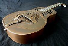 More details for tricone tri-cone resonator guitar - 'antique' copper finish