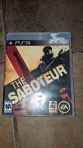 The Saboteur (Sony PlayStation 3, 2009) PS3 Complete Very Good condition