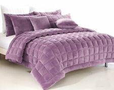 Plush Augusta Faux Mink Comforter Set   Quilt Set   300gsm Fill   Lilac