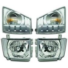 GMC TRUCK 2008-2015 W3500 W4500 W5500 TRUCK HEADLIGHTS TURN SIGNAL LIGHTS 4PC