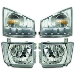 GMC TRUCK 2008-2015 W3500 W4500 W5500 TRUCK HEADLIGHTS TURN SIGNAL LIGHTS 4PC