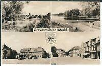 Ansichtskarte Grevesmühlen - Am Markt, Am Vielbeckersee - schwarz/weiß