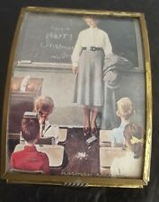 Sankyo Japan Music Box Norman Rockwell School Teacher 1998