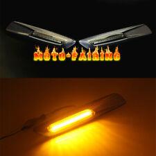 For BMW E60 E82 E87 E90 E91 Carbon Fiber Trim LED Side Marker Light Smoked Lens