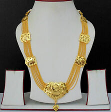 South Indian Jewelry Ethnic Gold Plated Necklace Chain Beautiful Light Set