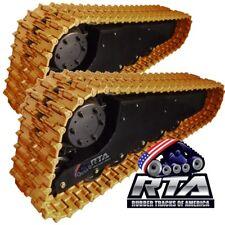 Two Duroforce Steel Ctl Tracks Fits Bobcat T190 T180 T550 T590 T595 16 Pads 49l