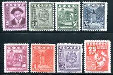 SPANISCH ANDORRA 1948 44-51 ** POSTFRISCH SATZ 160€(J8761