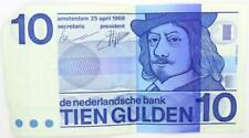 1968 Netherlands 10 Gulden Banknote.