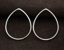 925 Sterling Silver 4  Pear Links, Connectors 20x24 mm.