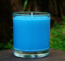 40hr RALPH LAUREN BLUE Womens Scented Organic SOY WAX Jar Candle Cotton Wicks