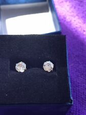 Pierced Ears New In Gift Box Pair Of Clear Gem Earrings For