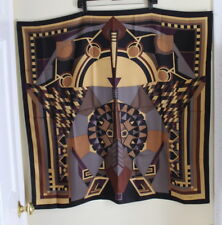 "2/2 Designer Art-Wear Frank Lloyd Wright 34"" Square Silk MoMA Scarf -Fine Piece"