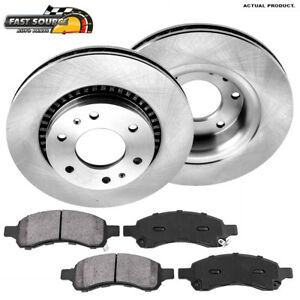 Front Brake Rotors Metallic Pads For V6 Chevy Trailblazer Buick Rainier Envoy