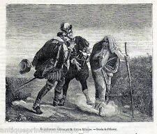 Antique print The Wandering Jew 1874 after Gaston Melingue by Pelissier