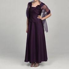 NEW Jessica Howard Women's Purple Petite Size: 8P Embellished Neckline Dress