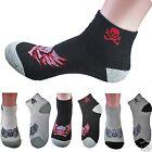 4-12 Pairs Ankle Quarter Crew Mens Sports Socks Low Cut Size 9-13 Skull Cotton