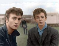 "The Beatles John Lennon Paul McCartney Print 11x14"" Photo"
