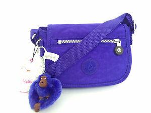 BNEW Authentic KIPLING Sabian AC7240 Crossbody Sling Bag Neon Purple FREE SHIP