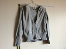 Women`s Sweater Cardigan Size X large Long Sleeves v neck Drawsting