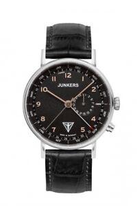 JUNKERS 6734-5 Eisvogel F13 Herren Armband Leder Armbanduhr Uhren