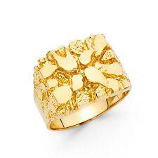 Men's 14k yellow Big Gold Nugget Ring size 10