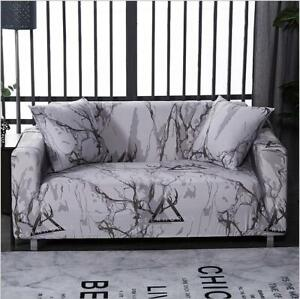 1/2/3/4-Seater Stretch Sofa Cover Printed Couch Cover Washable Sofa Slipcover
