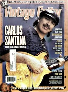 Vintage Guitar Magazine March 2006 Carlos Santana, Gretsch 6117, Tokai Talbo