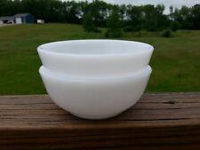 """Set of 2 Glasbake Milk Glass 5"""" Soup Cereal Dessert Bowls"""