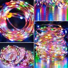 10M 100 LED Lichterkette Kupferdraht USB Funktionen Lichterkette Beleuchtung RGB