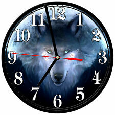 "8"" WALL CLOCK - Wolf 27 Wolves Spiritual - Kitchen Office Bathroom Bar Bedroom"