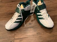 Adidas Pro Intimidate Hi Top Mens Football Cleats Green White Men's 14.5