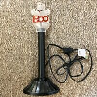 """✳️Works Vtg Halloween Candle Stick Boo Ghost Plastic Blow Mold Light Up 12"""""""
