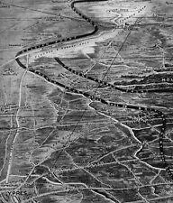 6x4 Photo ww1DC3 World War 1 Maps West Side Of Flanders Battleground