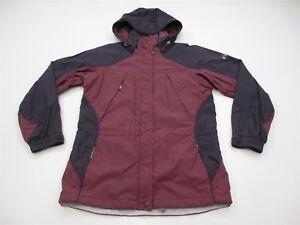 COLUMBIA RAIN JACKET Women's Size S Interchange Shell Hooded Purple/Maroon