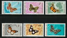 Burkina Faso 1971 MNH Sc 244-249 Butterflies and Moths