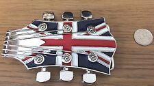 Guitarra Union Jack Bandera Reino Unido Noel Gallagher Retro Hebilla de cinturón. toma de 4 cm de ancho cinturón